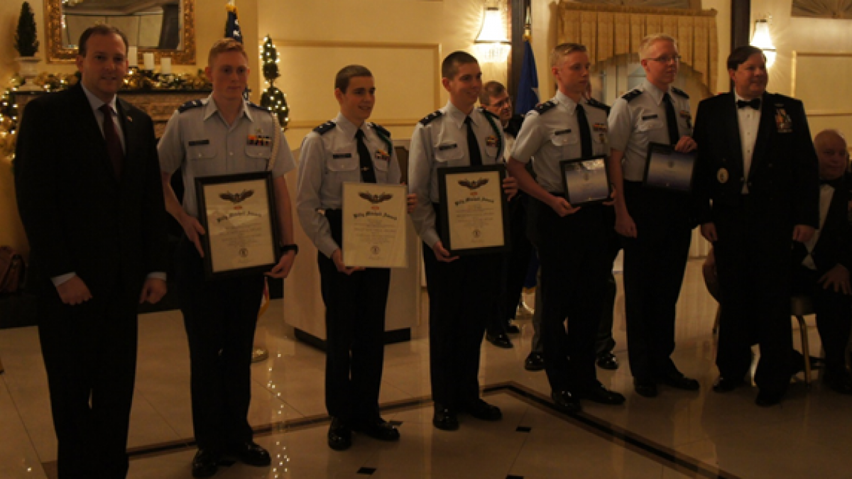 Rep. Lee Zeldin Presents Awards to Civil Air Patrol Officers and Cadets